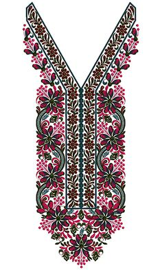 9285 Neck Embroidery Design