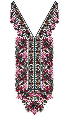 9285 Neck Embroidery Design