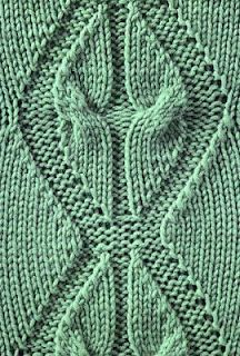 Beautiful & unusual - Angel Wings Cable - Alas, there's no cha. : Beautiful & unusual – Angel Wings Cable – Alas, there's no chart and the stitch is 36 rows. I might just have to chart this one! Knitting Stiches, Cable Knitting, Knitting Charts, Free Knitting, Crochet Stitches, Knit Crochet, Cable Stitch Knit, Stitch Patterns, Knitting Patterns