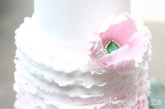 #Ombre  #ruffle cake #Fondant #Brooch #Pink #White Chocolate #So Whipped