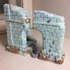 Diy diorama stone ruin