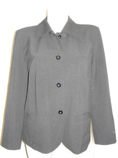 Chicos Womens Size 2 L 12/14 Black Blazer Dressy Career Suit Lined Jacket LS #Chicos #BasicJacket #DressyCareer