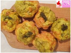 Muffin frittata agli asparagi, Muffin omelette with asparagus