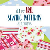 ALL the free sewing tutorials and patterns ever made by AppleGreen Cottage