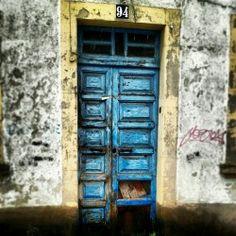 Blue door in Galicia, Spain. By LENCHU