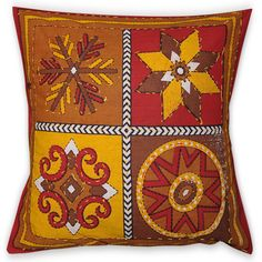 Handmade Pillow Covers Cotton Fabric Home Decor Set of 2 Cushion Cases