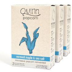 Quinn Popcorn: Microwave Popcorn Reinvented {Vermont Maple & Sea Salt}: Amazon.com: Grocery & Gourmet Food