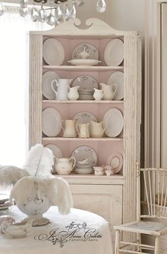 Pink Shabby Cabinet, Vintage furniture, Shabby Chic