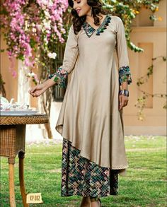 """It's party time! Add some dazzling hues to your party with touch of modern accents, by Shivali brings you variety of Summer friendly Party wear Collection """"Kitty Party"""". Approx MRP: 2100 to 2200 Rs. Per Piece. Kurta Patterns, Dress Patterns, Indian Attire, Indian Wear, Western Dresses, Indian Dresses, Kurta Designs, Blouse Designs, Neckline Designs"""