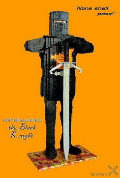 """LEGO Sculpture - Monty Python and the Holy Grail - the """"Black Knight"""""""