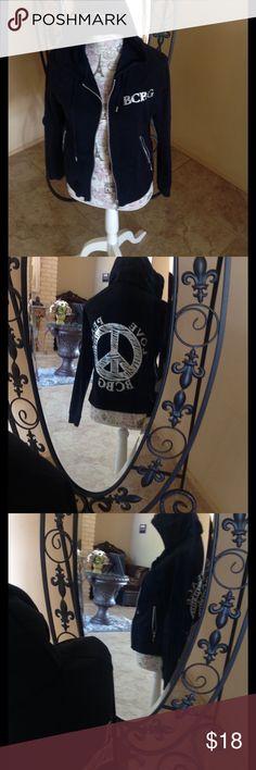 BCBG SWEET SHIRT WITH BLING Beautiful soft size P/L Tops Sweatshirts & Hoodies