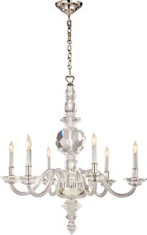 LARGE FACETED GEORGE II CHANDELIER  by E.F. Chapman