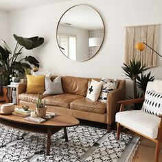 Small Apartment Living Room Design French - 7 apartment decorating and small living room ideas Small Apartment Living, Small Apartment Decorating, Small Living Rooms, Living Room Decor Simple, Small Livingroom Decorating, Mirrors In Living Room, Living Room Ideas Mid Century Modern, Full Length Mirror Living Room, Long Livingroom