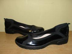Taryn by Taryn Rose Adin Women's Shoes Black Patent Flats Comfort Loafers Sz 10M #TarynRose #BalletFlats #WeartoWork