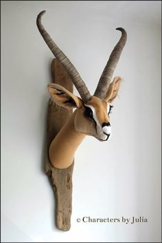 Gazelle. Vegetarian hunting trophy. Faux taxidermy Characters by Julia