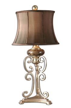 Fancy Lamp Silver Leaf Metal Black Chocolate Marble Semi-Bell Home Decor  |lamp | lighting, furniture | accents, home decor | accessories, wall decor, patio | garden, Rugs, seasonal decor,garden decor,patio decor,lamps and lighting