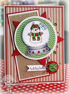 Cute Handmade Cards   Coordinates with our Holiday Snow Globe Die Set
