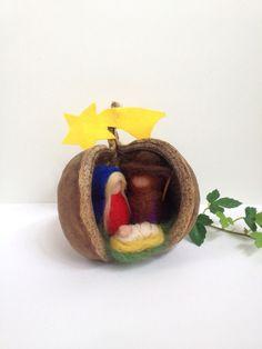 Krippenfiguren ~ Filz ~ Heilige Familie von Jana's kleine Filzwelt auf DaWanda.com
