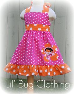 Custom Boutique Clothing Pink and Orange by LilBugsClothing, $39.99