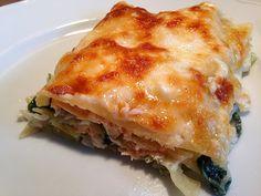 Leichte Spinat-Lachs-Lasagne 1