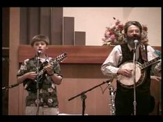 When We All Get To Heaven Southern Gospel Music Bluegrass style by Jolliff Band. Bill Jolliff on Banjo, Jake (Jacob Henry) Jolliff on Mandolin, Louanne Fugal on Upright Bass, Steve Blanchard on Guitar, Strolling Down Memory Lane, Billy & Willie Pollard's Country Gospel TV Program, http://billyandwillie.tripod.com