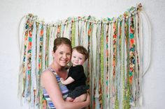 Popular items for torn fabric garland on Etsy