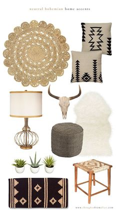 Thoughts from Alice: Neutral Bohemian Home Accents