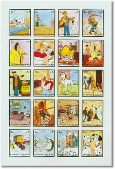 101 Dalmatians stamps from Fujeira