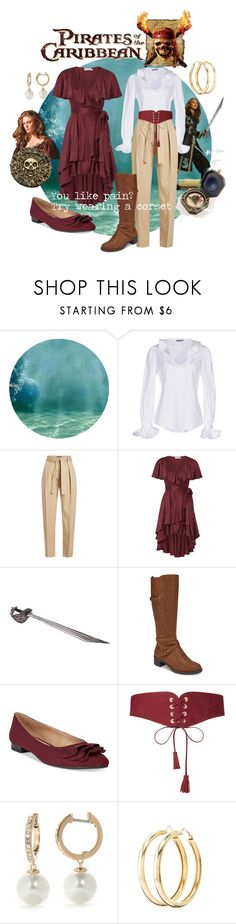 """""""Pirates of the Caribbean"""" by cinemasweetheart ❤ liked on Polyvore featuring Alexander McQueen, Polo Ralph Lauren, Zimmermann, Disney, Easy Street, ESPRIT, Maison Boinet, Kate Spade and Charlotte Russe"""