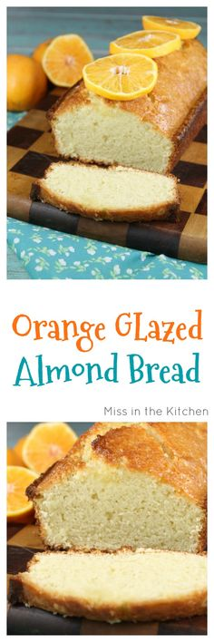 Orange Glazed Almond Bread made with Silk Protein Nut Milk is a fabulous dairy-free breakfast option. Also makes a wonderful gift to bake and share for the holidays! Recipe from MissintheKitchen.com #ad #SilkProteinNutmilk