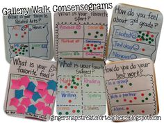 Here's a great idea for combining a gallery walk with data collection.