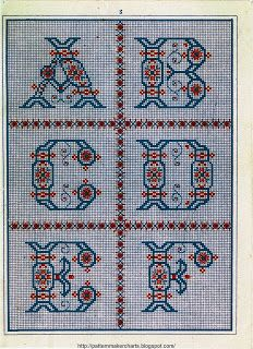 Free Easy Cross, Pattern Maker, PCStitch Charts + Free Historic Old Pattern Books: Sajou No 181