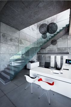 contemporary interior design ZAJC Showroom and Production Hall / IPNOTIC Architecture dream kitchen. Contemporary Interior Design, Modern Interior, Modern Design, Interior Exterior, Exterior Design, Architecture Design, Installation Architecture, Escalier Design, Beton Design