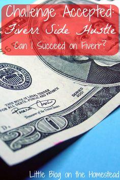 Challenge Accepted: Fiverr Side Hustle, can I succeed on Fiverr?