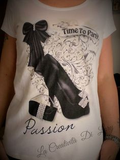 T-shirt- Fashion con  trasferimento  d 'immagine