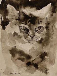 "Daily Paintworks - ""adopt39"" - Original Fine Art for Sale - © Katya Minkina"