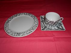 Terri's 1st of 3 breakfast sets, side plate, cup & saucer.