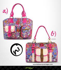 Llénate de color esta primavera con #BolsasNuevaImagen. ;)  ¿Cuál eliges, A o B? Adquiérelas en nuestra tienda en linea http://www.distribuidoranuevaimagen.com/