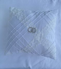 Bridal ring bearer pillow shabby chic country great for wedding, marriage, anniversary, chic on Etsy, $19.99