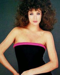 Kelly LeBrock photographed by Michel Comte, swimsuit Fendi, Linea Italiana May/June 1981