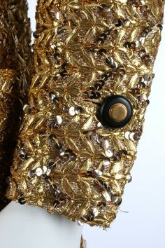 #1960s #gold #sequin #Chanel #jacket