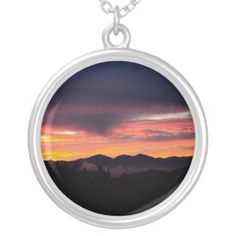 The sunset in the San Bernardino Mountains necklace.