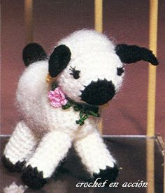 Amigurumi White Lamb Free Pattern (Enlarge picture to Read)
