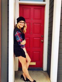 Hat: H   Sweater: F21  Skort: Zara   Shoes: H