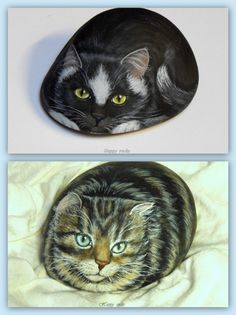 *Very nicely painted cats...such talent!