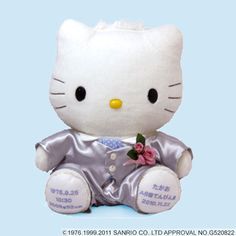Hello Kitty's boy, Daniel's doll. Buy one and you can get your name, wife's name, and the day you got married sewed! Available at Rakuten Global Market!