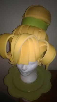 Tinkerbell foam wig made by Lady Mallemour