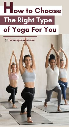 Types of Yoga: How to Choose The Right Type of Yoga For You | Choosing a style of yoga class? This is a comprehensive guide to some of the most popular styles of yoga. You will get a good understanding of each type of yoga and if it's suitable for you. Knowing a little bit of all the yoga disciplines can help you make a decision. #yoga #typesofyoga #yogastyles #yogadisciplines Yoga For You, How To Do Yoga, Yoga Poses For Beginners, Workout For Beginners, Morning Yoga Routine, Basic Yoga, Yoga For Flexibility, Yoga Exercises, Yoga Workouts