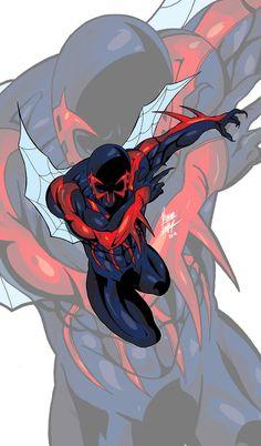 #Spiderman #2099 #Fan #Art. (Spiderman 2099) By: Ricardo1982. (THE * 5 * STÅR * ÅWARD * OF: * AW YEAH, IT'S MAJOR ÅWESOMENESS!!!™)[THANK Ü 4 PINNING<·><]<©>ÅÅÅ+(OB4E)
