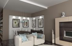 white brick wall interior grey